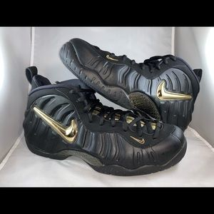 dfbeb279876 Nike Shoes - Nike Air Foamposite Pro  Black Metallic Gold